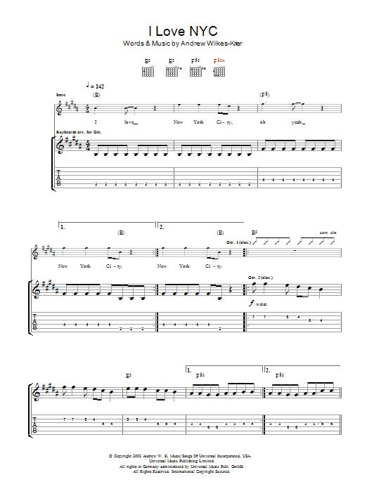 I Love NYC sheet music