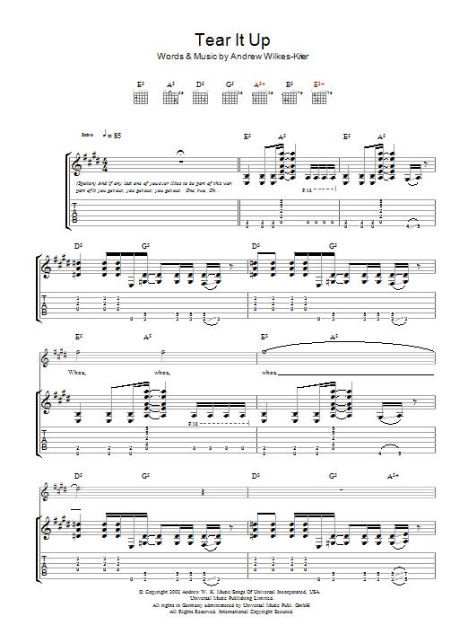 Tear It Up sheet music