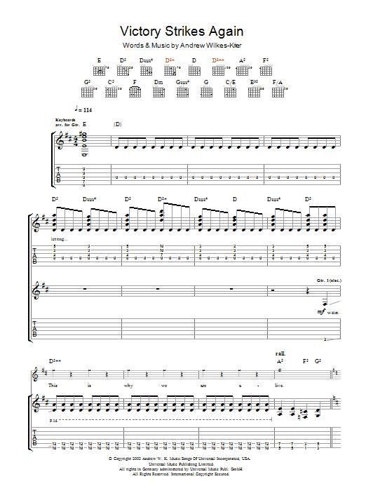 Victory Strikes Again sheet music