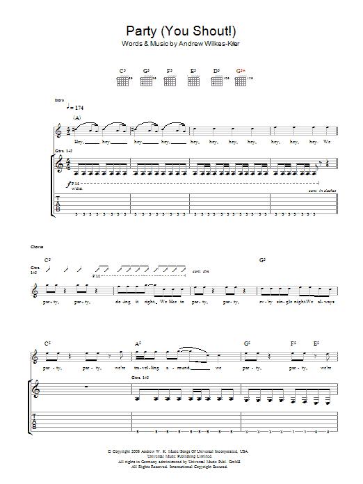 We Party (You Shout) sheet music