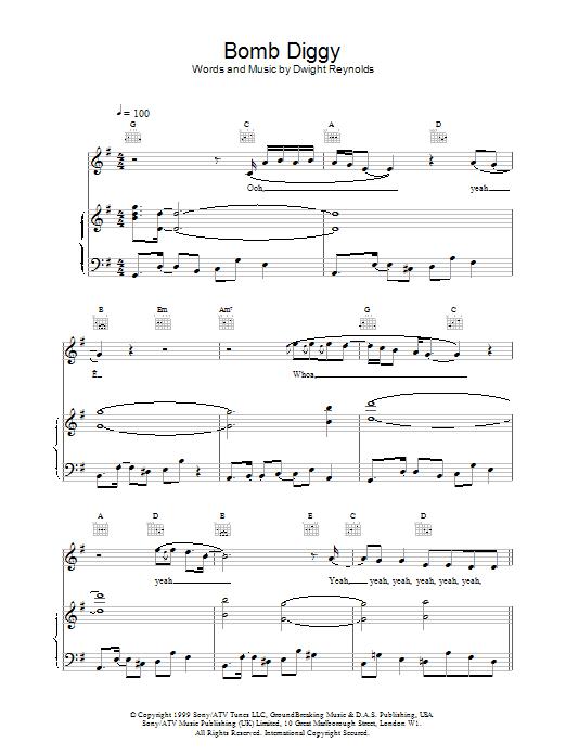Bomb Diggy sheet music