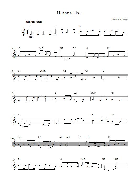 Humoreske sheet music