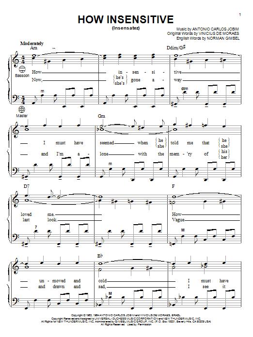How Insensitive (Insensatez) sheet music