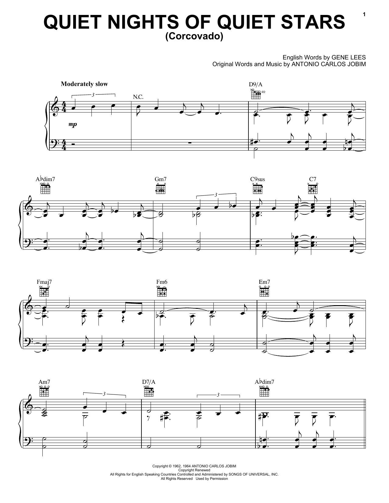 Quiet Nights Of Quiet Stars (Corcovado) sheet music