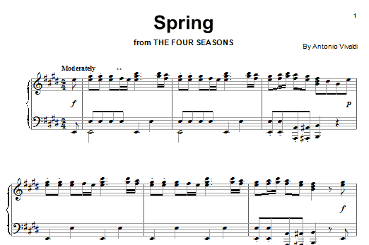 Spring sheet music