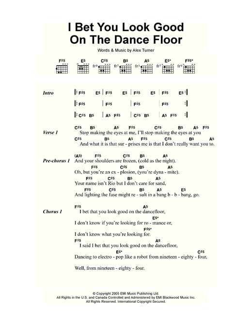 bet you look good on the dance floor music