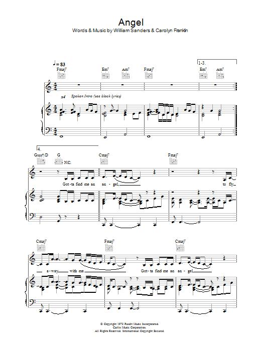 Angel sheet music