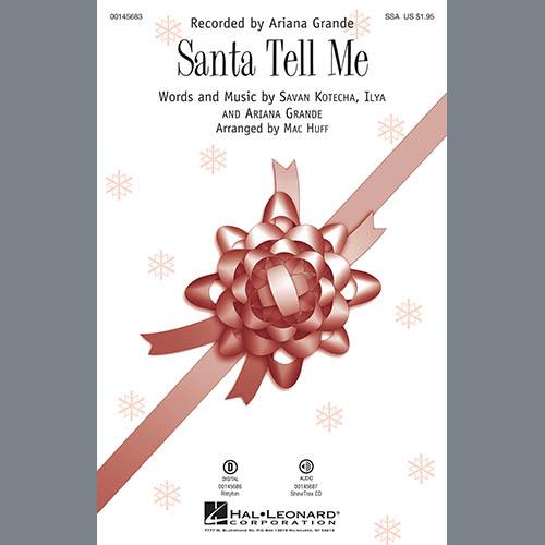 Ariana Grande, Santa Tell Me (Arr. Mac Huff) - Guitar, Choir Instrumental Pak