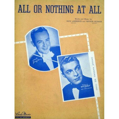 Arthur Altman, All Or Nothing At All, Piano, Vocal & Guitar (Right-Hand Melody)
