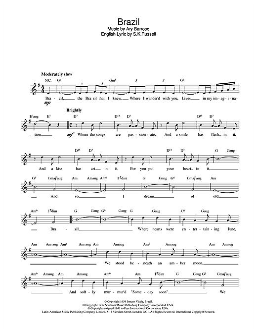 Brazil sheet music