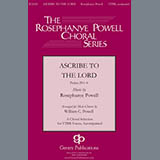 Download Rosephanye Powell 'Ascribe To The Lord (arr. William C. Powell)' printable sheet music notes, Concert chords, tabs PDF and learn this TTBB Choir song in minutes