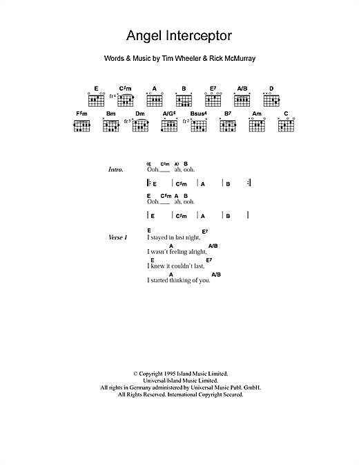 Angel Interceptor sheet music