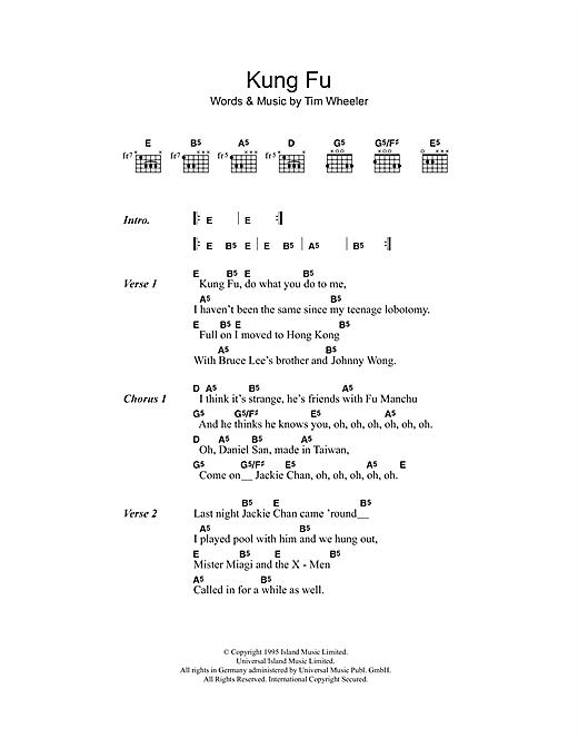 Kung Fu sheet music