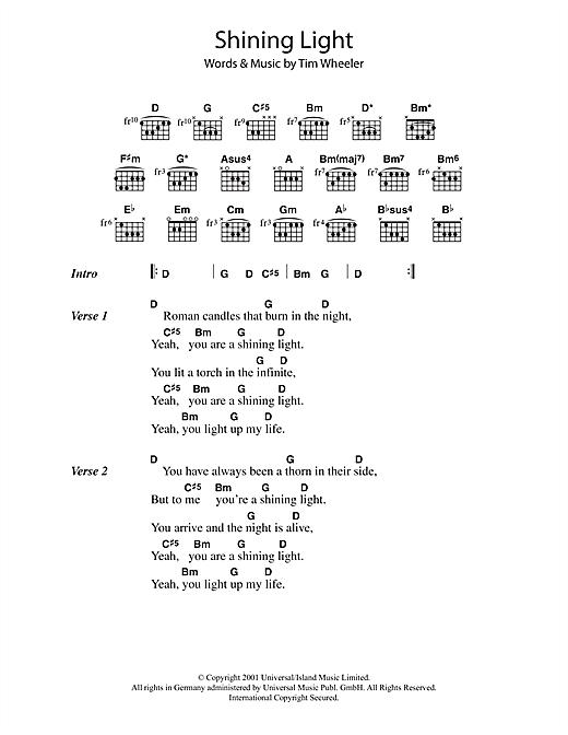 Shining Light sheet music
