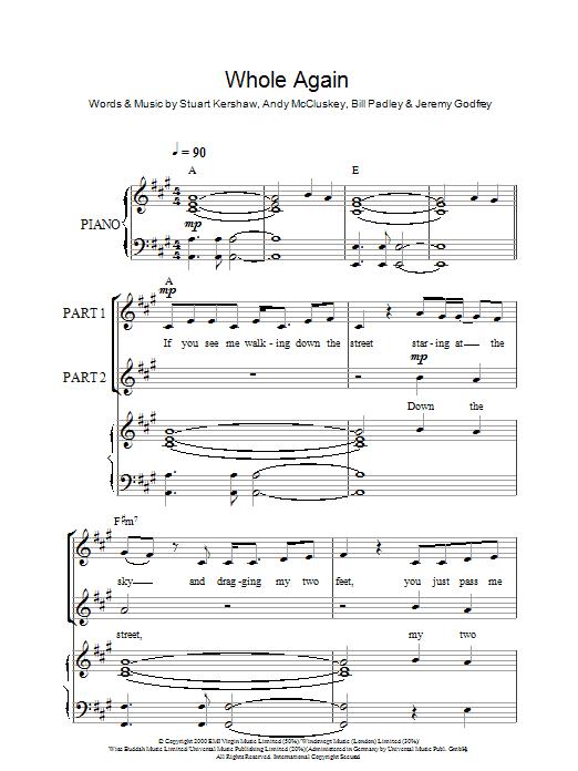 Whole Again (arr. Rick Hein) sheet music