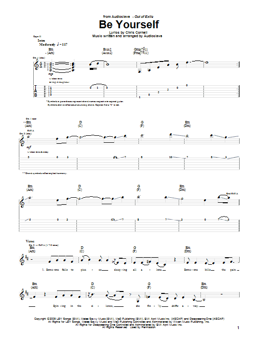 Be Yourself sheet music