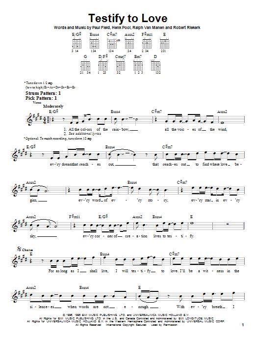 Testify To Love sheet music