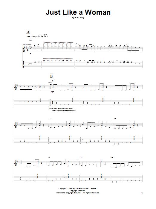 Just Like A Woman sheet music