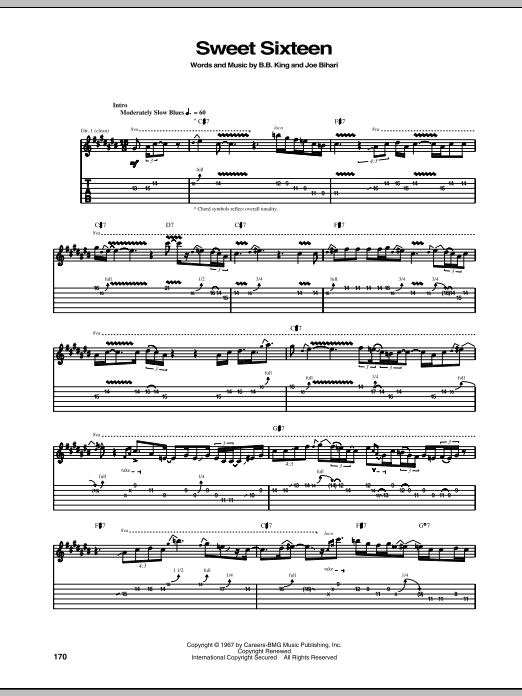 Sweet Sixteen sheet music