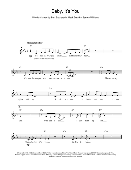 Baby It's You sheet music