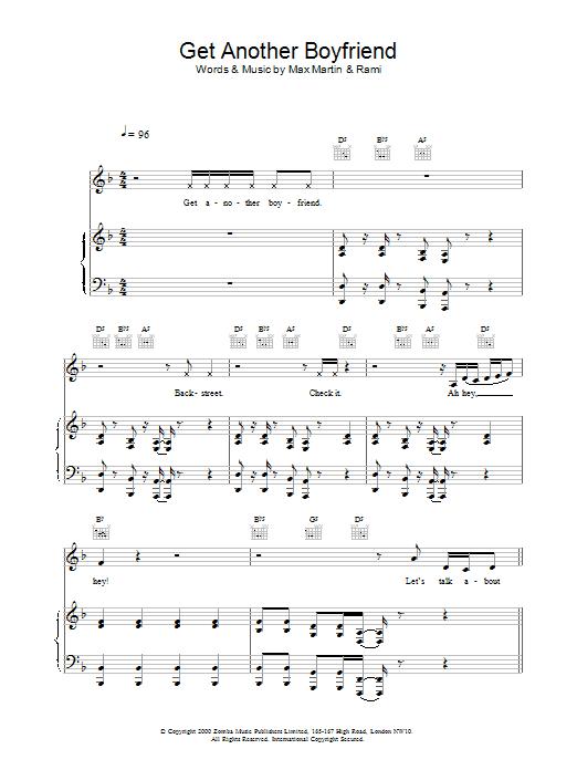 Get Another Boyfriend sheet music