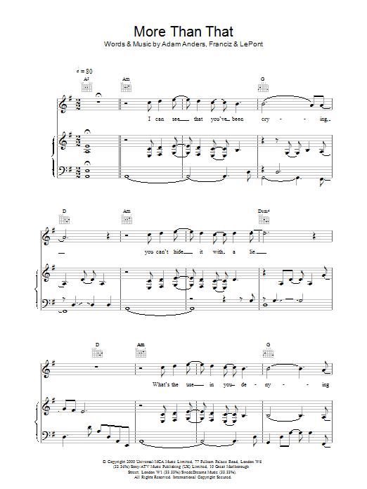 More Than That sheet music