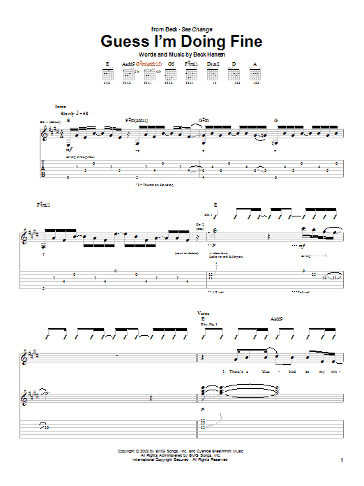 Guess I'm Doing Fine sheet music