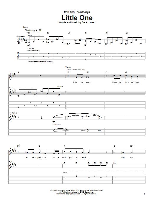 Little One sheet music