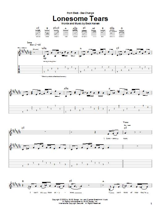 Lonesome Tears sheet music