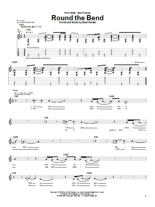 Round The Bend sheet music