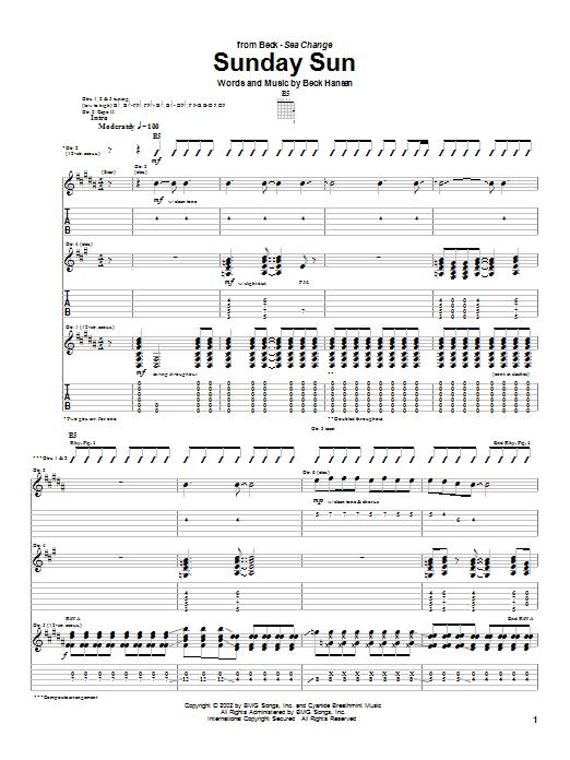 Sunday Sun sheet music