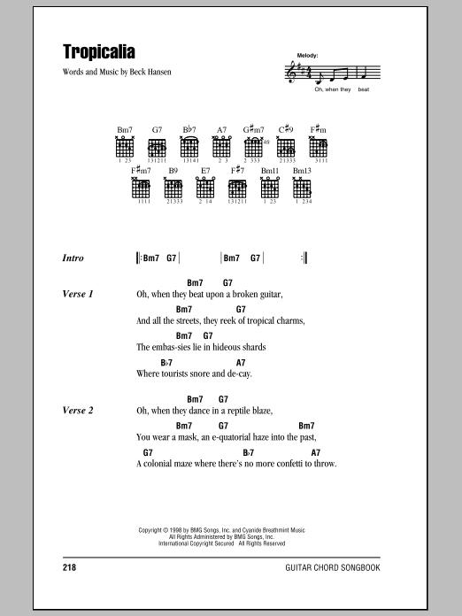 Tropicalia sheet music