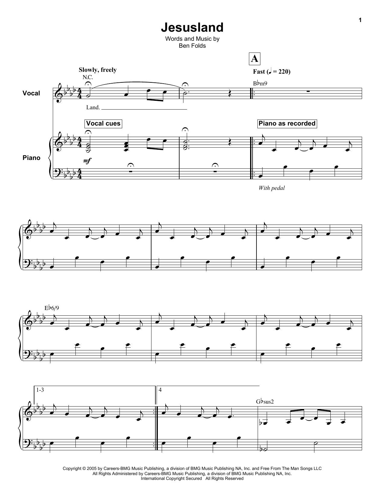 Jesusland sheet music