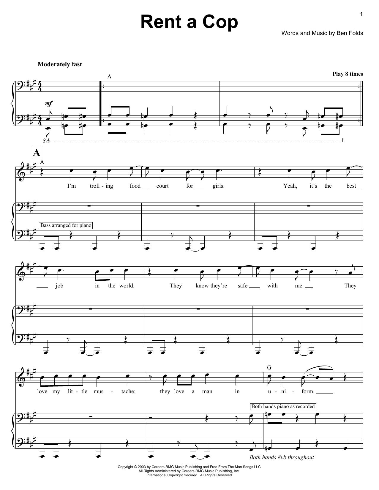 Rent A Cop sheet music