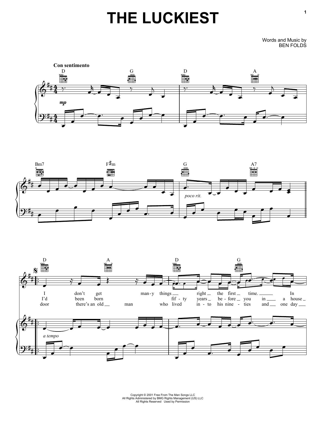 The Luckiest sheet music