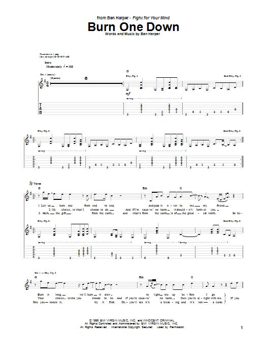 Burn One Down sheet music