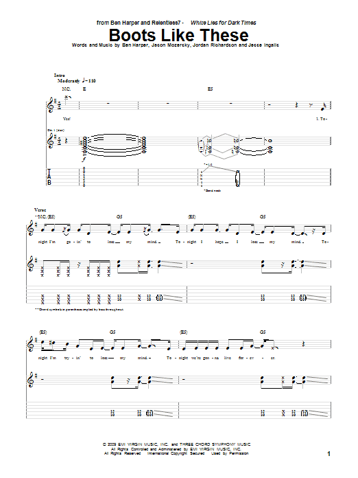 Boots Like These sheet music