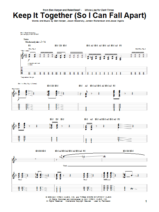 Keep It Together (So I Can Fall Apart) sheet music