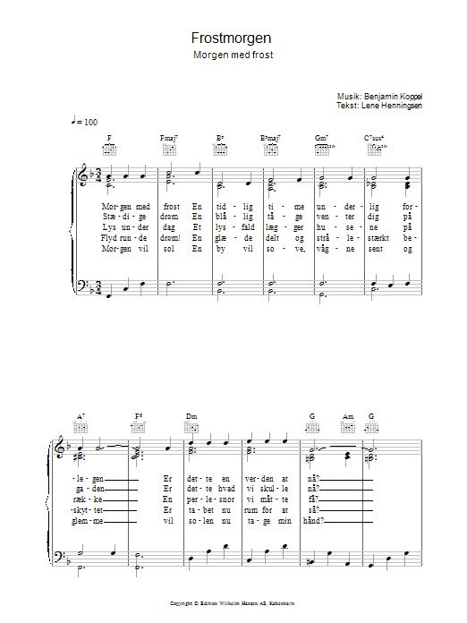 Frostmorgen sheet music