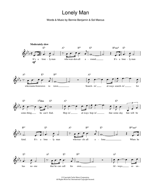 Lonely Man sheet music