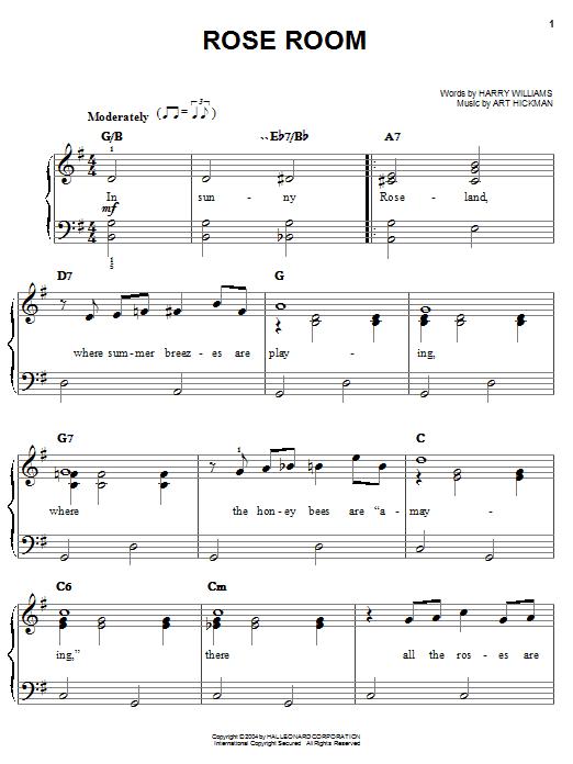 Rose Room sheet music