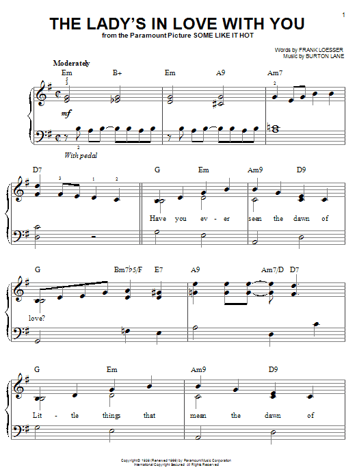 The Lady's In Love With You sheet music