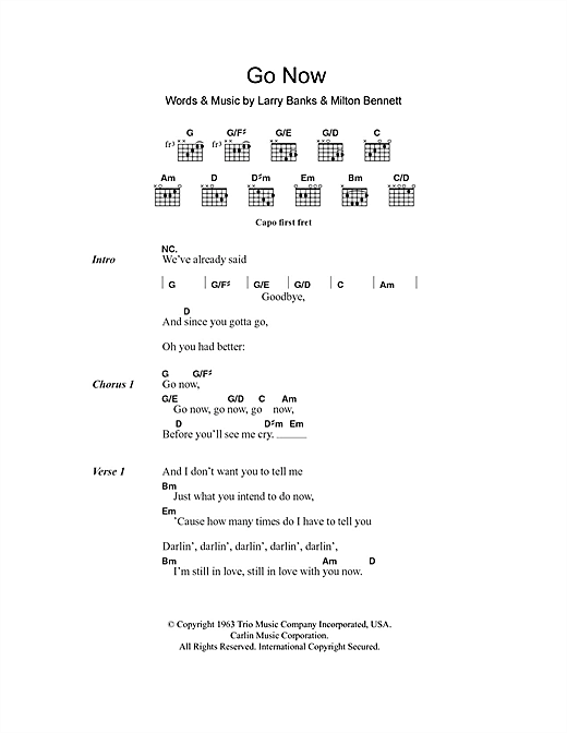 Go Now sheet music