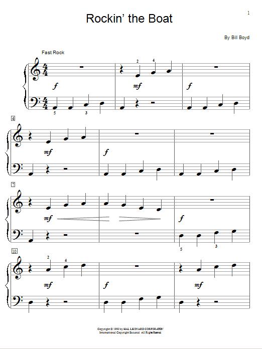 Rockin' The Boat sheet music