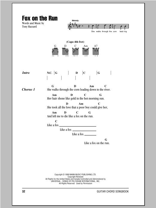 Fox On The Run sheet music