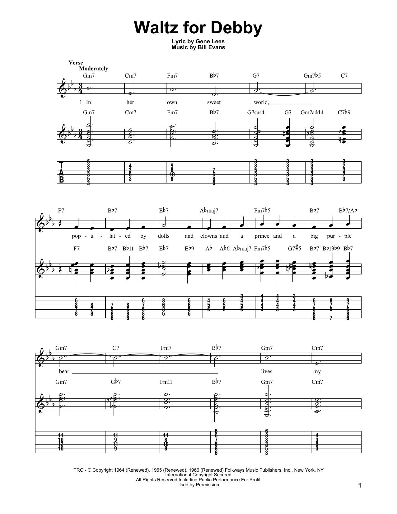 Waltz For Debby sheet music