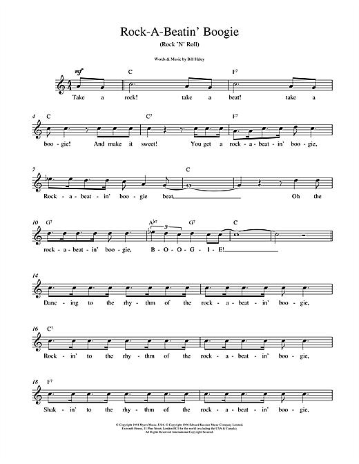 Rock A Beatin Boogie sheet music