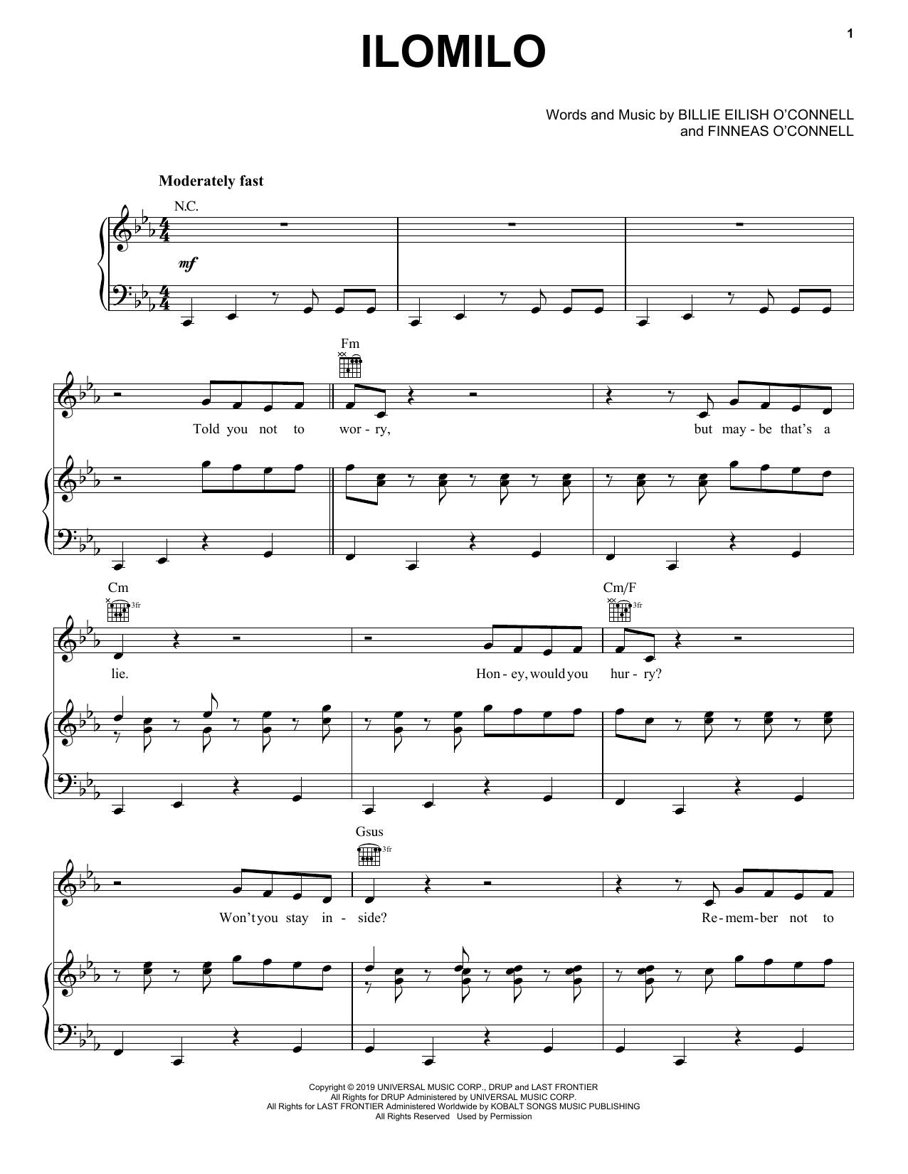 ilomilo sheet music