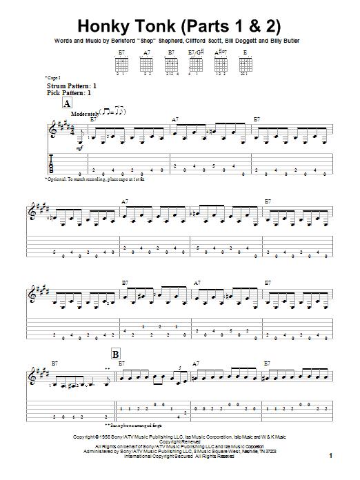 Honky Tonk (Parts 1 & 2) sheet music