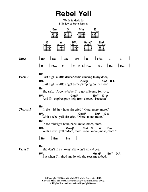 Rebel Yell sheet music